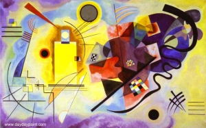 Oil-Paintings-Yellow-Red-Blue-by-Wassily-Kandinsky