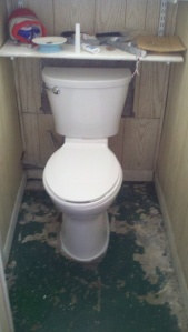 174 New basement toilet