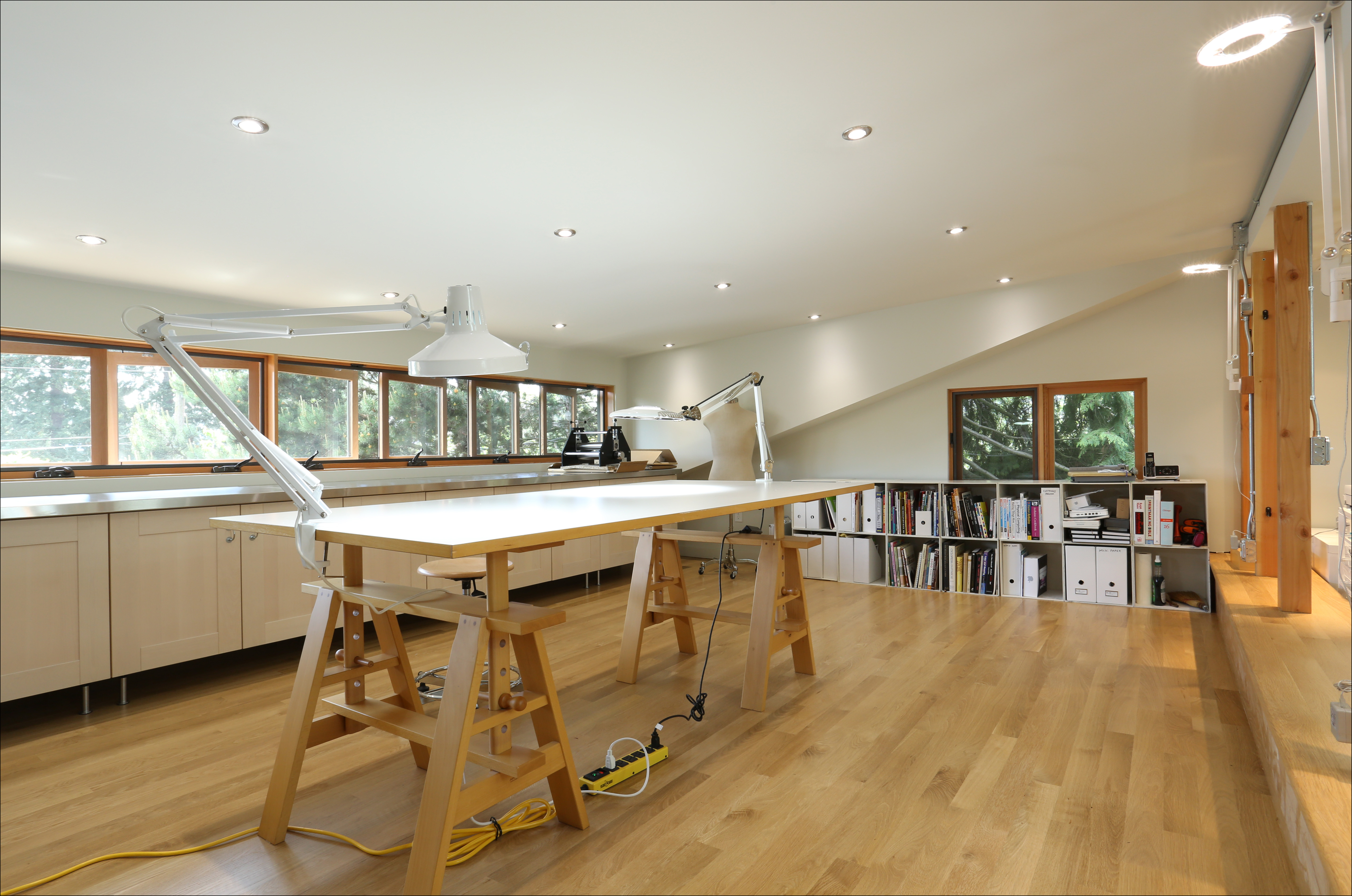 room above garage design ideas - Client's Eye View Creating a Light and Airy Art Studio