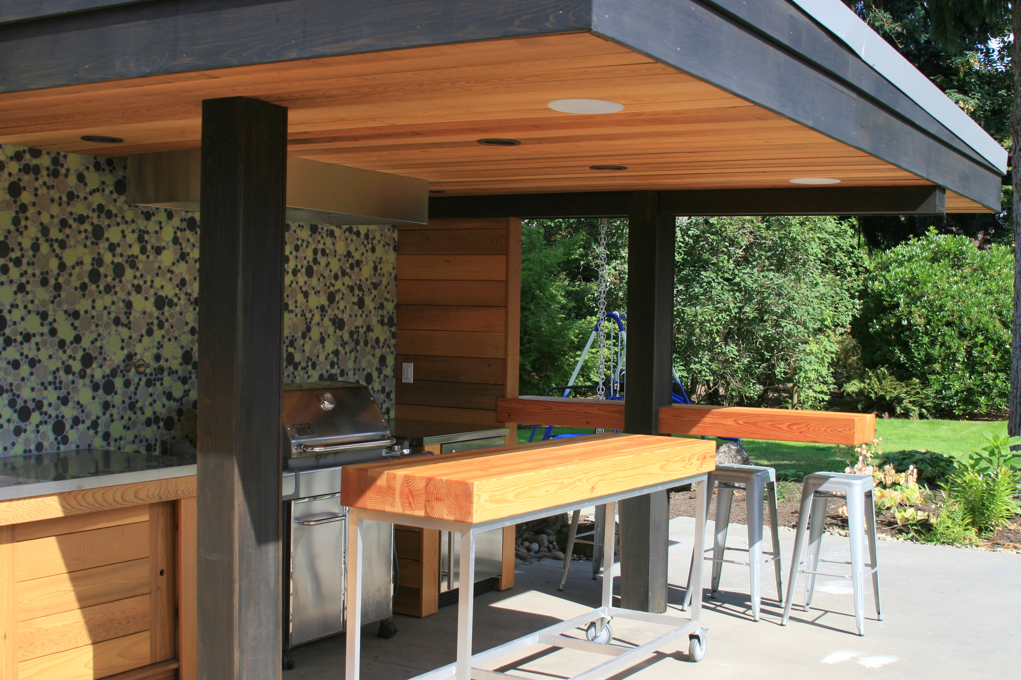 outdoor kitchen inside arciform