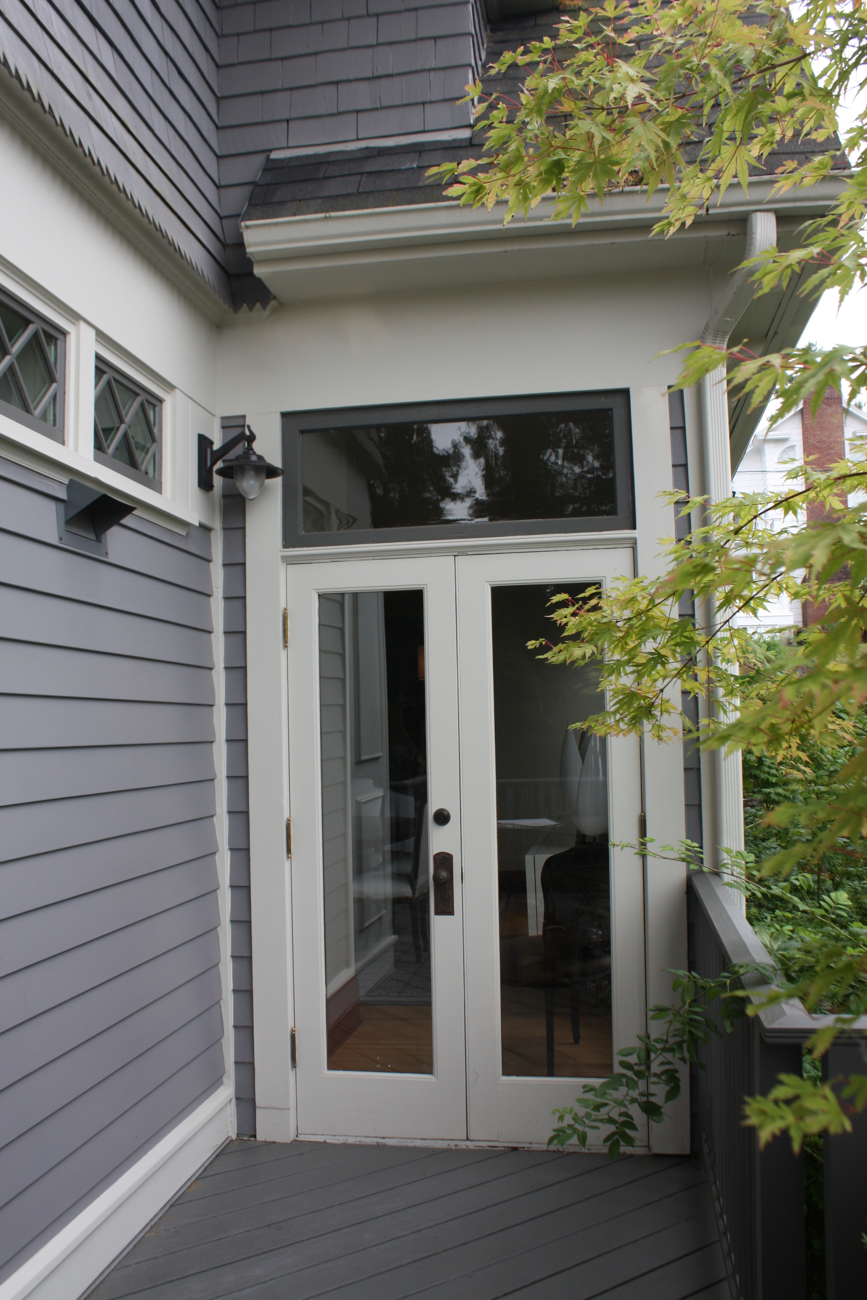 Victorian exteriors inside arciform for Double wide french doors