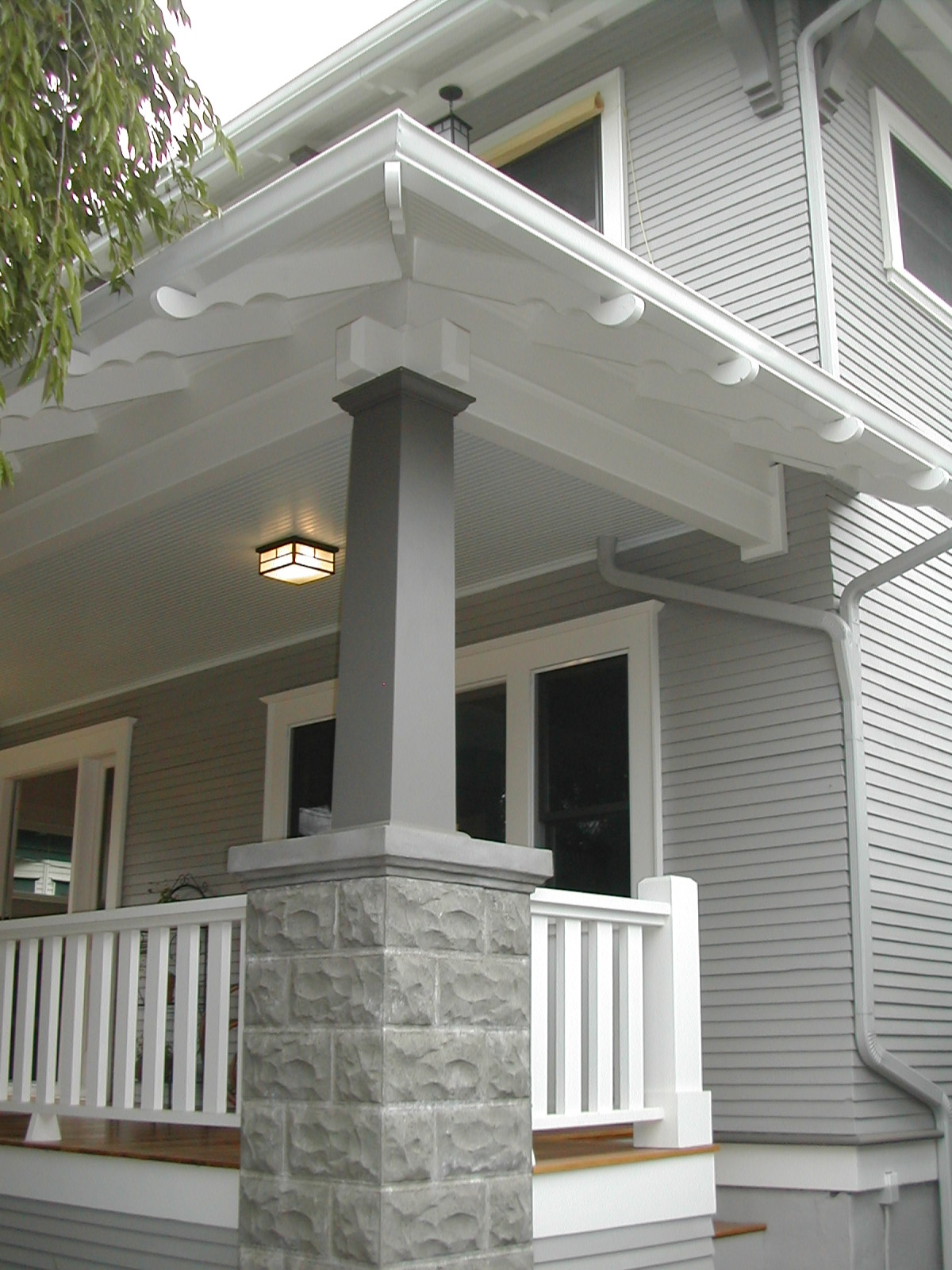 Historic curb appeal maintaining your craftsman inside for Garage column wrap