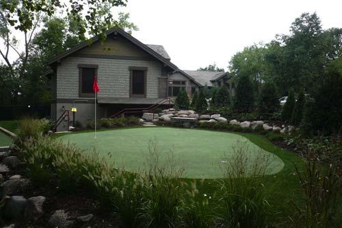 Golf-backyard