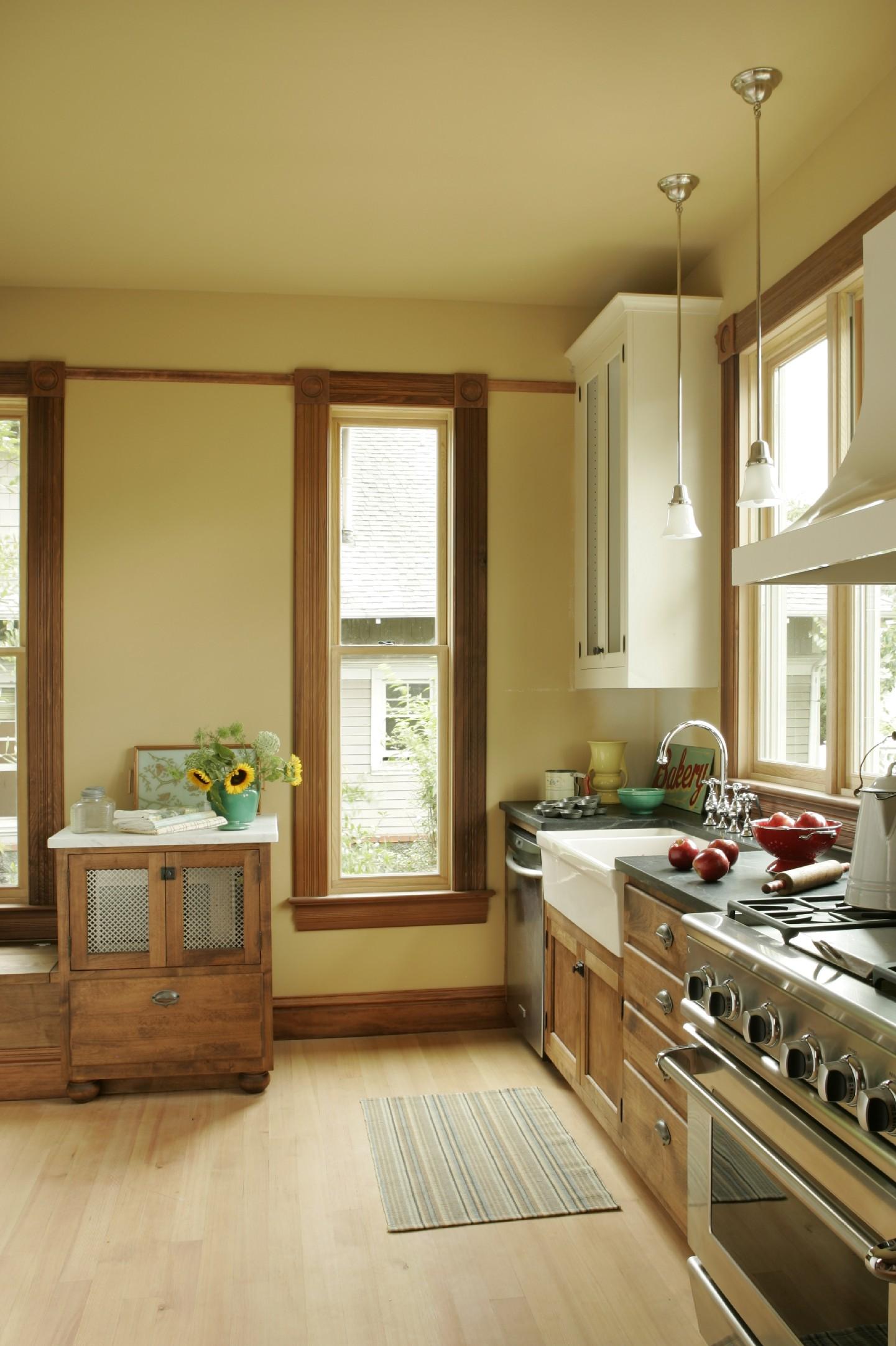 Period perfect kitchen pre 1910 inside arciform for Tall narrow windows