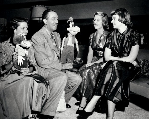 Walt Disney, Diane Disney, Sharon Disney, Louisa Wallace