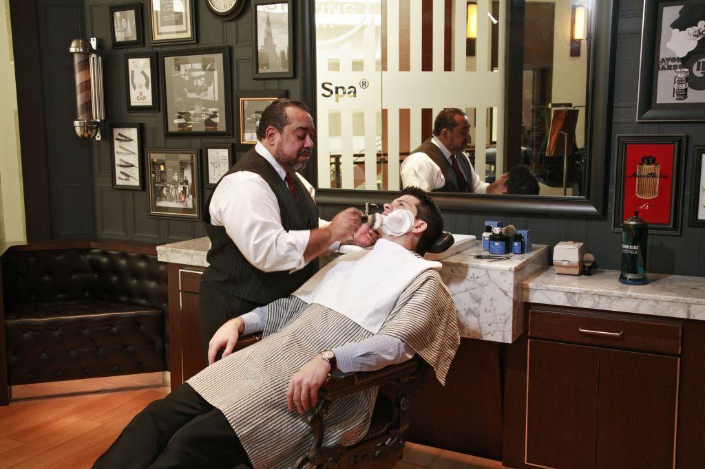art of shaving chair