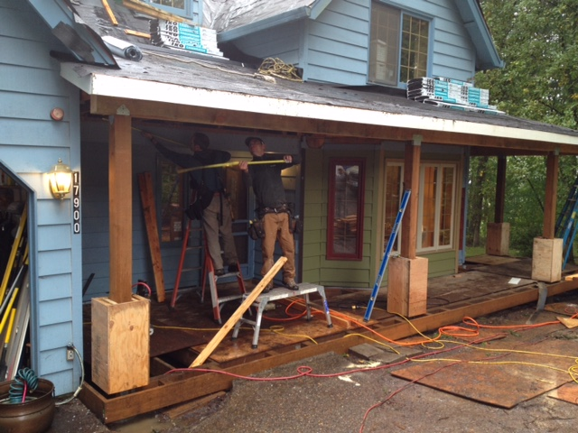 exterior front - porch underway 4